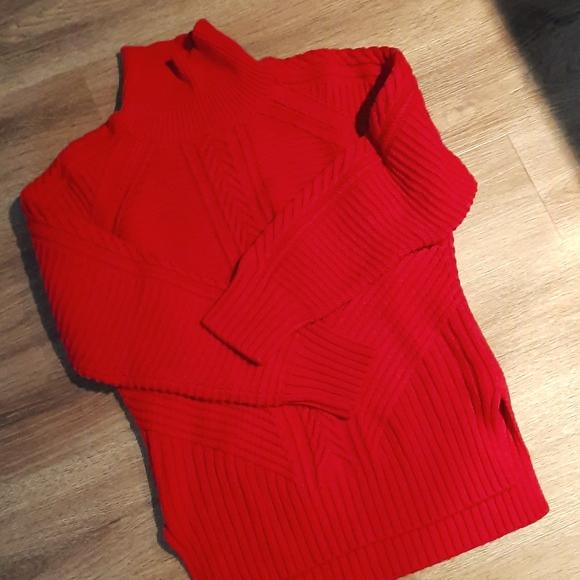 Deep red,heavy sweater